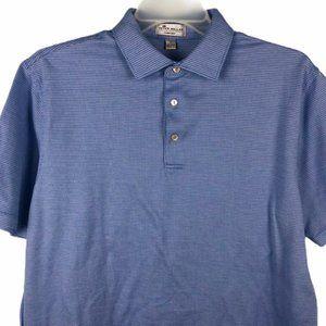 Peter Millar Crown Ease Polo Shirt Blue Mens L